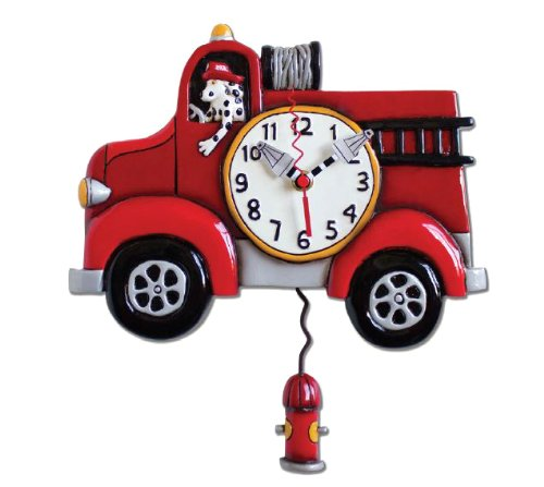 "Allen Design Studios ""Big Red"" Resin Wall Clock"