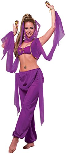 [Forum Novelties Women's Desert Princess Costume, Purple, One Size] (Sexy Genie Costumes)
