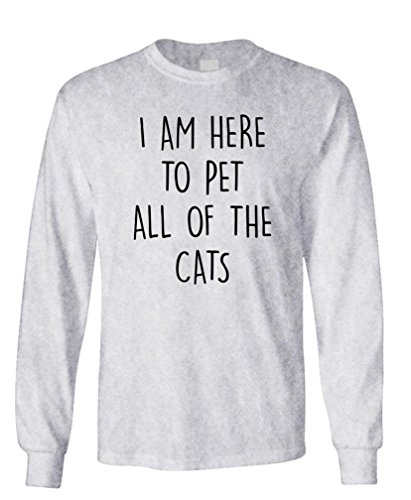 - I'm HERE to PET All The Cats - Kittens Hug - Long Sleeved Tee, S, Sport