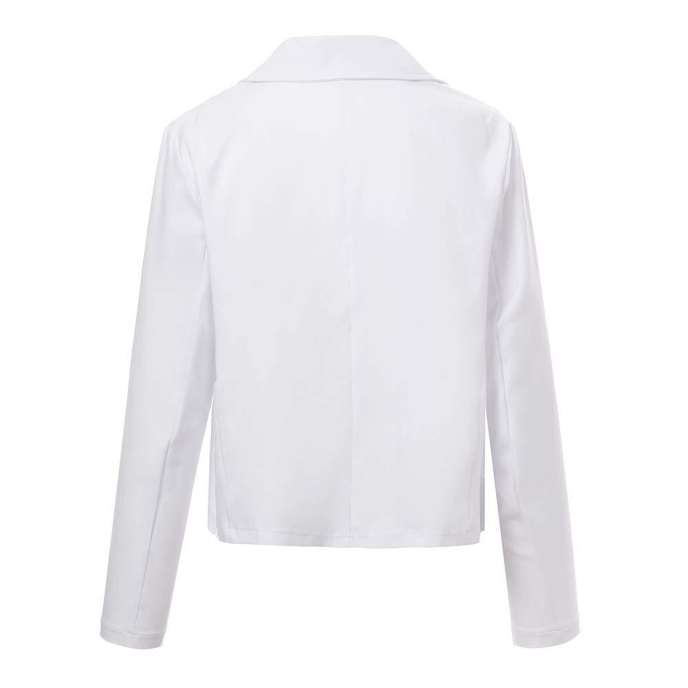 Bianco UOMOGO 6 Donna Ufficio Tailleur Elegante, Giacca da
