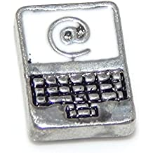 "Jewelry Monster ""Laptop Computer"" for Floating Charm Lockets LF0023"