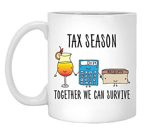 567939e4 Amazon.com: SET 10 MUG. DONATE 2 mugs. Tax Season Funny, Mug for ...