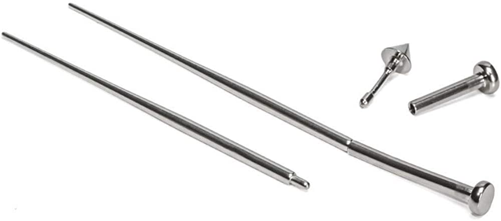 """Painful Pleasures 18g Stainless Steel Insertion Pin Taper (1"""" Long) - Piercing and Stretching Kit for Internally Threaded or Threadless Jewelry"""