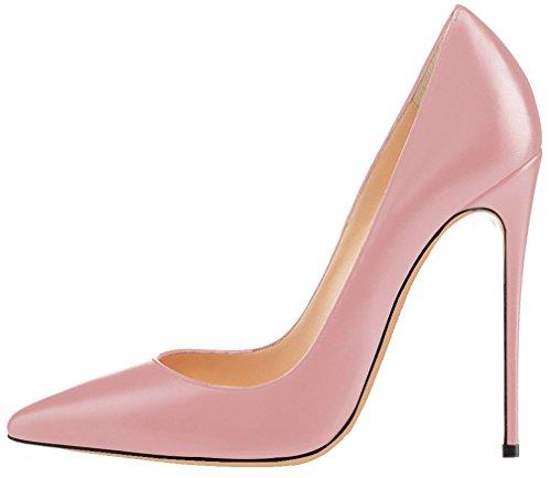Femme sur Calaier rose Aiguille Caover Chaussures Glisser Escarpins B 12CM 1wqdXw