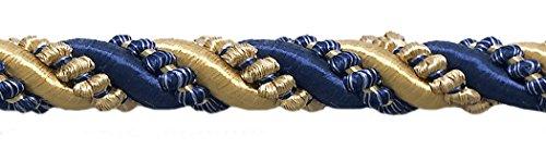 DÉCOPRO Large Gold, Navy Blue 7/16