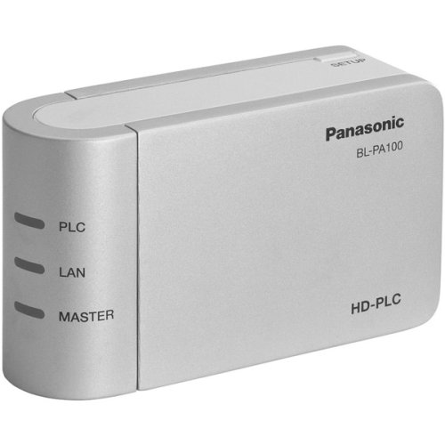 Panasonic BL-PA100KTA Ethernet Adaptor Starter Pack Includes two HD-PLC (High Definition Power Communication) by Panasonic