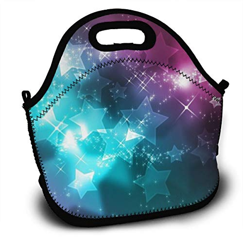 Insulated Lunch Bag - Girly Wallpaper Reusable Lunch Tote Lightweight Shoulder Bag with Adjustable Shoulder Strap Mom Bag for Kids Adults in Office, School Or Outdoor Travel Picnic -