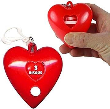 Porte Cles En Forme De Coeur Roulette A Bisous Loterie Originale