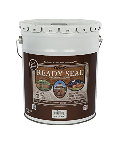 Ready Seal 500 Clear, 5-Gallon Exterior Wood Stain and Sealer, 5 Gallon, (Best Wood Stain And Sealer)