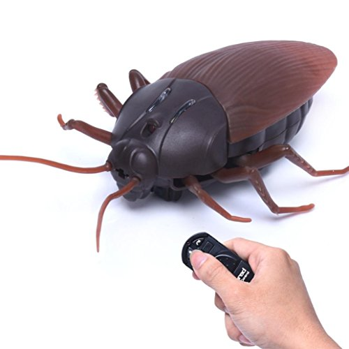 Lisin Remote Control High Simulation Animal Cockroach Infrared Kids Toy Gift Joke - Pranks Appropriate
