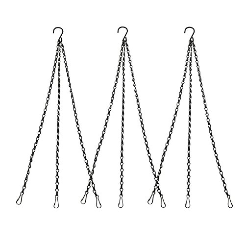 3 Sets Hanging Chain Flower Pot Basket Replacement Chain Hanger for Bird Feeders, Planters, Lanterns and Ornaments, 19.7 inch/ 50cm