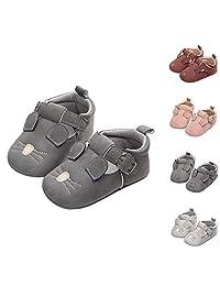 SelansKJ Cute Rabbit Pig Mouse Infant Baby Faux Leather Soft Sole Prewalker Toddler Shoes