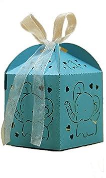 Lance Home Cajas del Caramelo de la Ducha de Bebé, 50 pcs Elefante ...