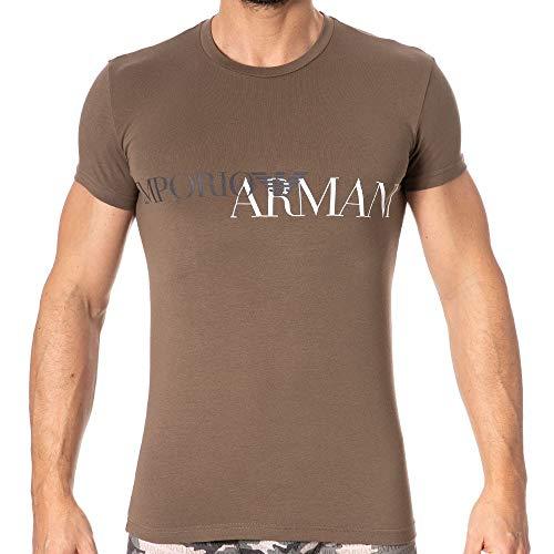 Emporio Armani Megalogo T-Shirt Khaki - Green Armani Mens T-shirts