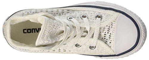 Converse Star Hi Tiny Crochet - Zapatillas Abotinadas Unisex Niños Blanco / Rosa