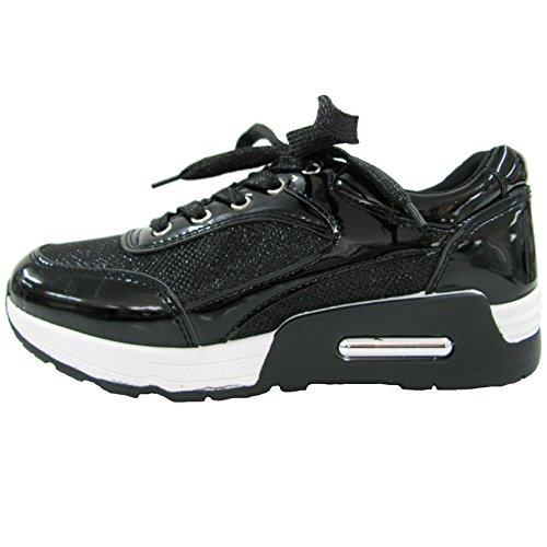 QueenTina Damen Sneakers 40 Schwarz