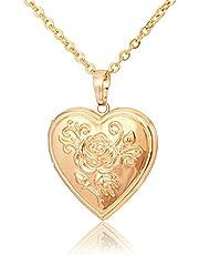 قلادة من المجوهرات زهرة الورد هدية للنساء