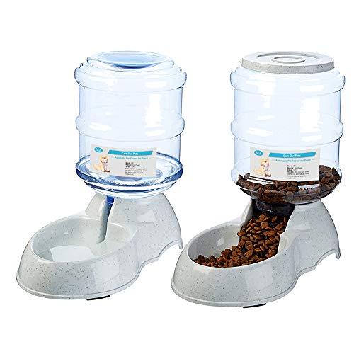 🥇 XIAPIA Dispensador de Agua Automático para Mascotas de Gatos/Perros  3.75L x 2 Piezas Preservador de Alimentos y Agua