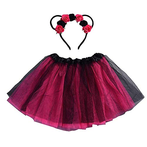 Mac Special Occasion Dress - Girls Tutu Tulle Dress for Birthday Party Special Occasion with Ears Headband