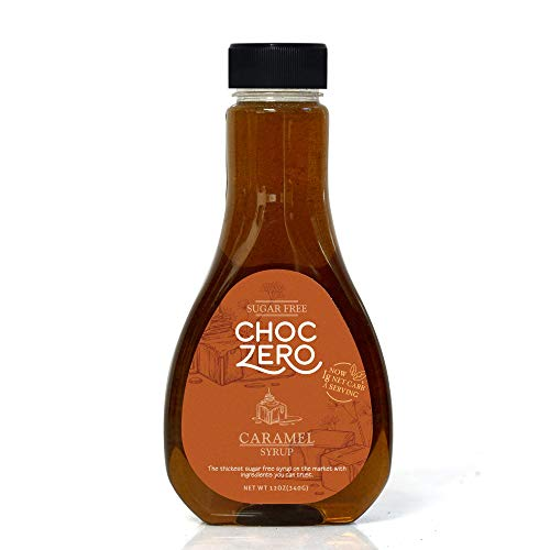ChocZero's Caramel Sugar-Free Syrup. Low Carb (1 Gram Net Carb), No Sugar, No Preservatives, No Sugar -