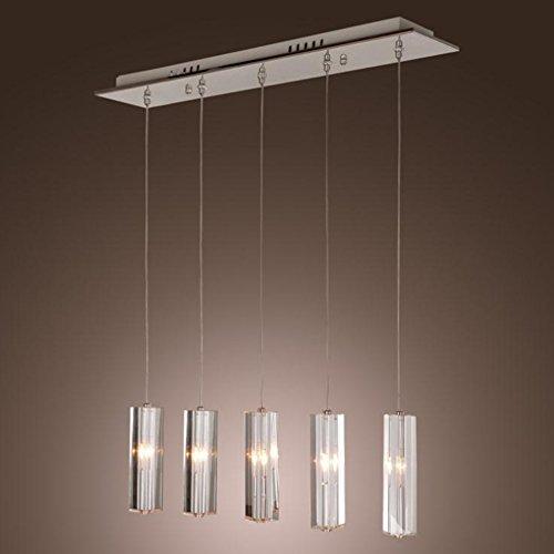 ChuanHan Pendant Lighting Fixture Pendant Lamps 5 Lamp Contemporary Modern Crystal Chandelier Ceiling Light Crystal Dining Chandelier Ceiling ()