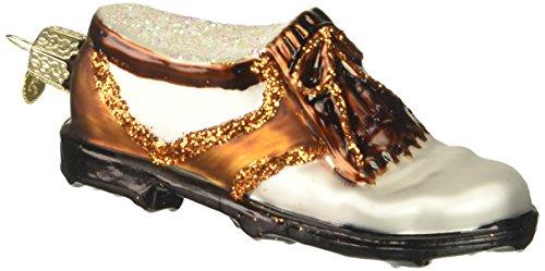 Old World Christmas Golf Shoe Glass Blown Ornament -