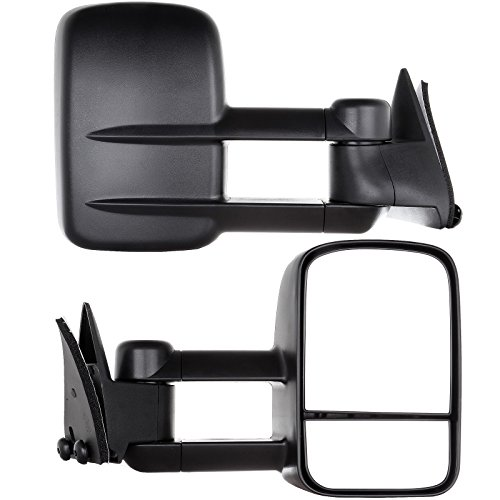 OCPTY Pair Set Towing Mirrors Manual Telescoping Side View Tow Mirror for 88-98 Chevy GMC CK 1500 2500 3500 (LH+RH)