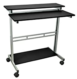LUXOR Standup-40-B Stand Up Desk, Black