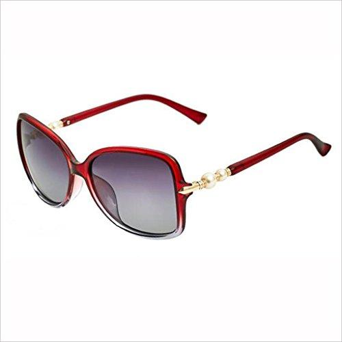 Box Color Polarized Street Pearl 1 Gafas Drive HOME Beat Moda Sol Outdoor de QZ Big Gafas Light Travel 5 pBwqgfR