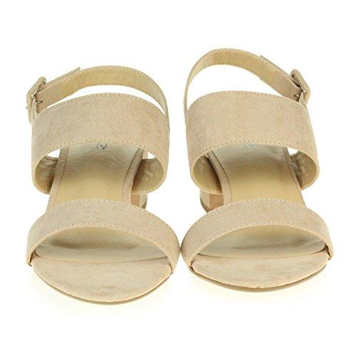 Forme Femmes Mariée Bloc Dames Soirée LONDON De Talon De Plate Bal Nude Soirée Chaussures Brillante Sandales Taille D'été Mariage AARZ De 6qZ7w5q