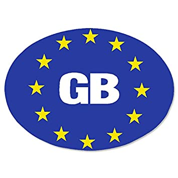 New Euro Stars GB Sign Blue Background Sticker Set For Travel Abroad Car Vinyl