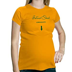 NCAA My U Oregon Ducks Maternity Future Fan T-Shirt - Yellow (Small)