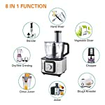 INALSA INOX 1000 1000W Food Processor with Blender Jar,304 Grade SS Dry Grinding,Chutney Jar,12 Accessories,Centrifugal…