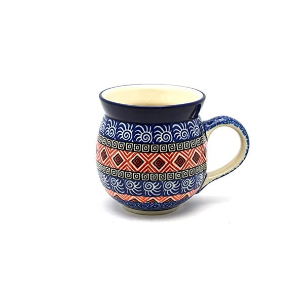 Polish Pottery Mug – 11 oz. Bubble – Aztec Sun