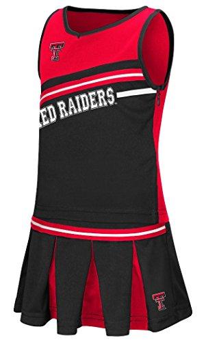 Colosseum Texas Tech Red Raiders NCAA Toddler Curling 2 Piece Set Cheerleader - Piece 2 Texas Tech