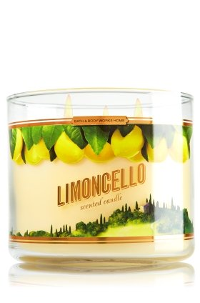 Bath & Body Works 2014 LIMONCELLO 3 Wick Scented Candle 14.5 oz./411 g