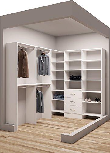 """Tidy Squares Demure Design 75"""" W - 96.25"""" W Closet System"""