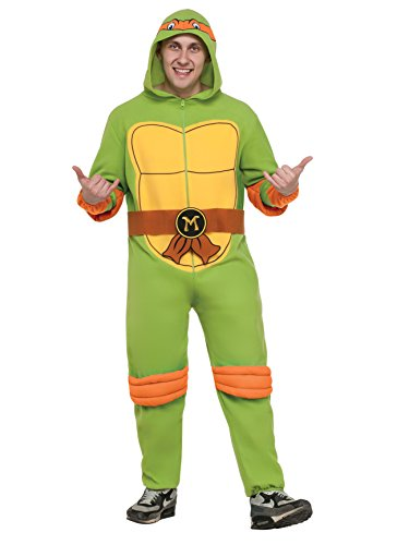 Rubie's Men's Teenage Mutant Ninja Turtles Classic Raphael Hooded Jumpsuit, As As Shown, Extra-Large]()