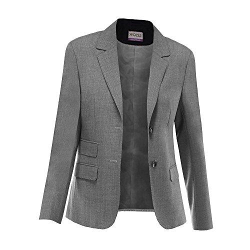 (Skopes Womens/Ladies Elle Formal Suit Jacket (12/R) (Grey))