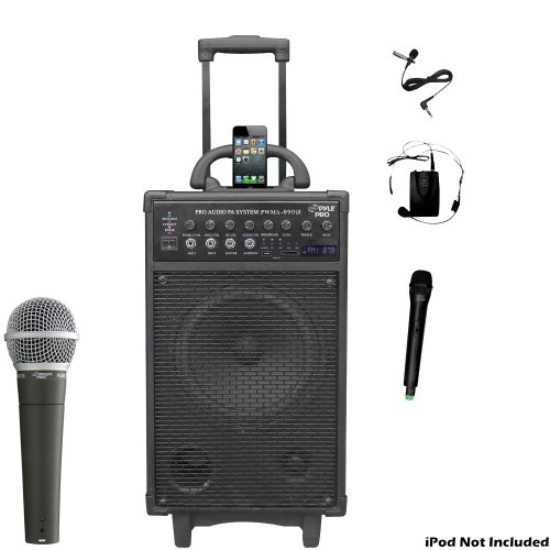 Pyle Mic and Speaker Package - PWMA890UI 500 Watt Dual