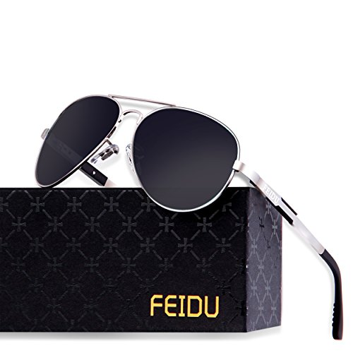 FEIDU Mens Polarized Aviator Sunglasses Metal Frame Unisex Sun Glasses FD9001 (C3, - Sunglasses Mens Popular