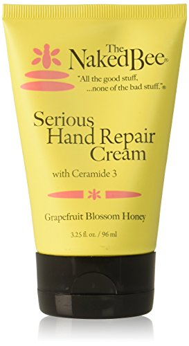 The Naked Bee Grapefruit Blossom Honey Serious Hand Repair Cream, 3.25 Ounce (Best Moisturizer For Dry Cracked Hands)