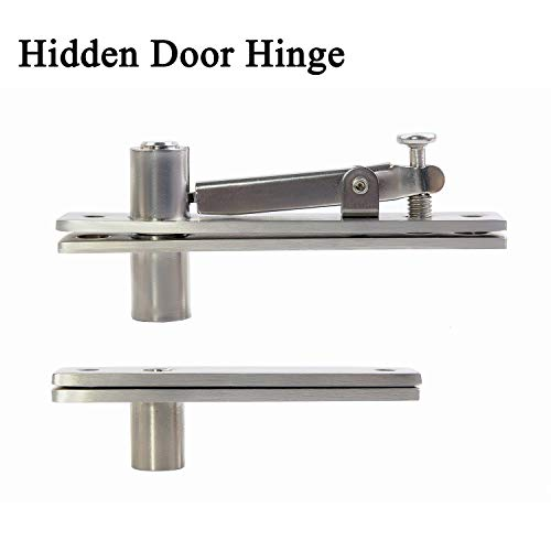 CHHQ Hidden Door Pivot Hinges Heavy Duty Hinges 360 Degree Shaft for Wood Doors 304 Stainless Steel Brushed Finish Hardware
