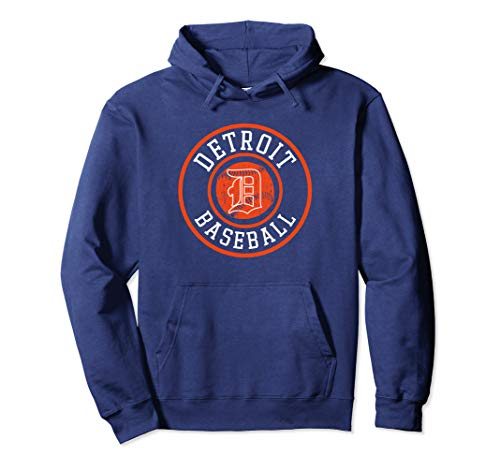 Detroit Baseball | Michigan Bengal Tiger Badge Retro Gift  Pullover ()