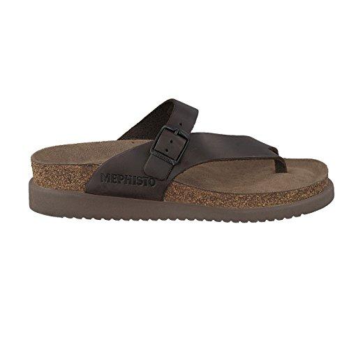 Mephisto Women's Helen Patent Brown Cork Sandals 38 EU ()