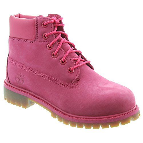 Timberland Womens Tb0a1ode Leather Closed Toe, Pink, Size 7.