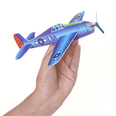 Rhode Island Novelty 8 Inch Flying Glider Plane Set of 12: Toys & Games