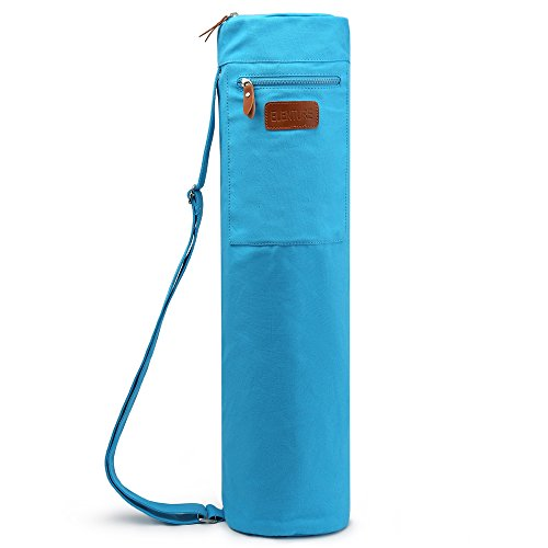 ELENTURE Yoga Mat Travel Bag with Multi-Functional Storage Pockets (Blue)