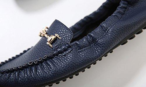 Mocassini Mocassini Da Donna Dolphinbanana, Mocassino Slip-on Con Supporto Morbido E Traspirante Sottopiede Piattino Scarpe Comode Piatte Blu Navy