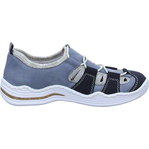 Blau Donna Mocassini L2561 Rieker 14 TIqAn0